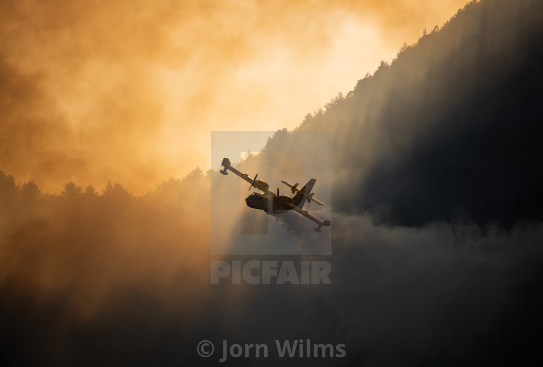 """Wildfire Italy - L"" stock image"