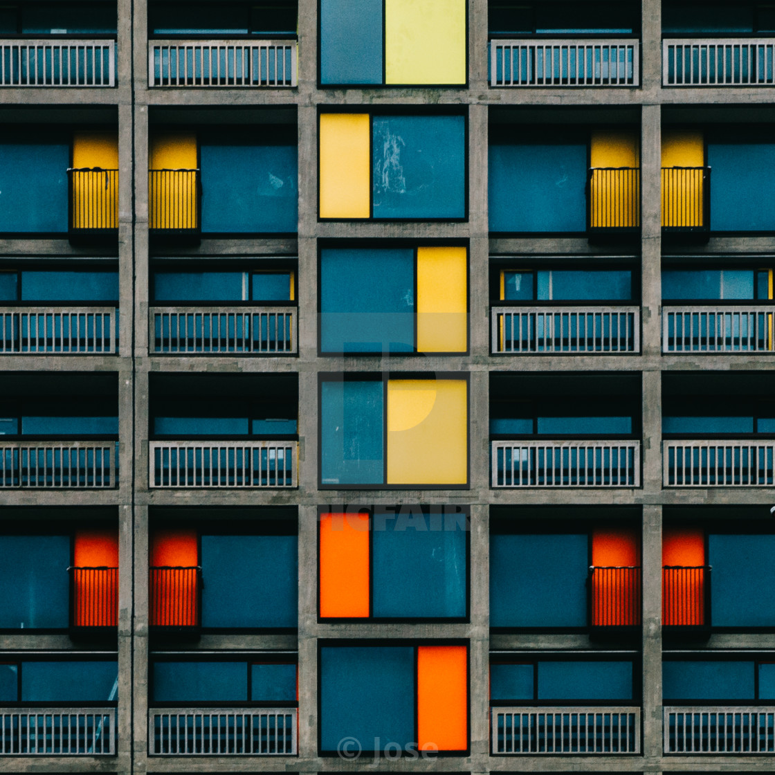 """Colour Blocks"" stock image"