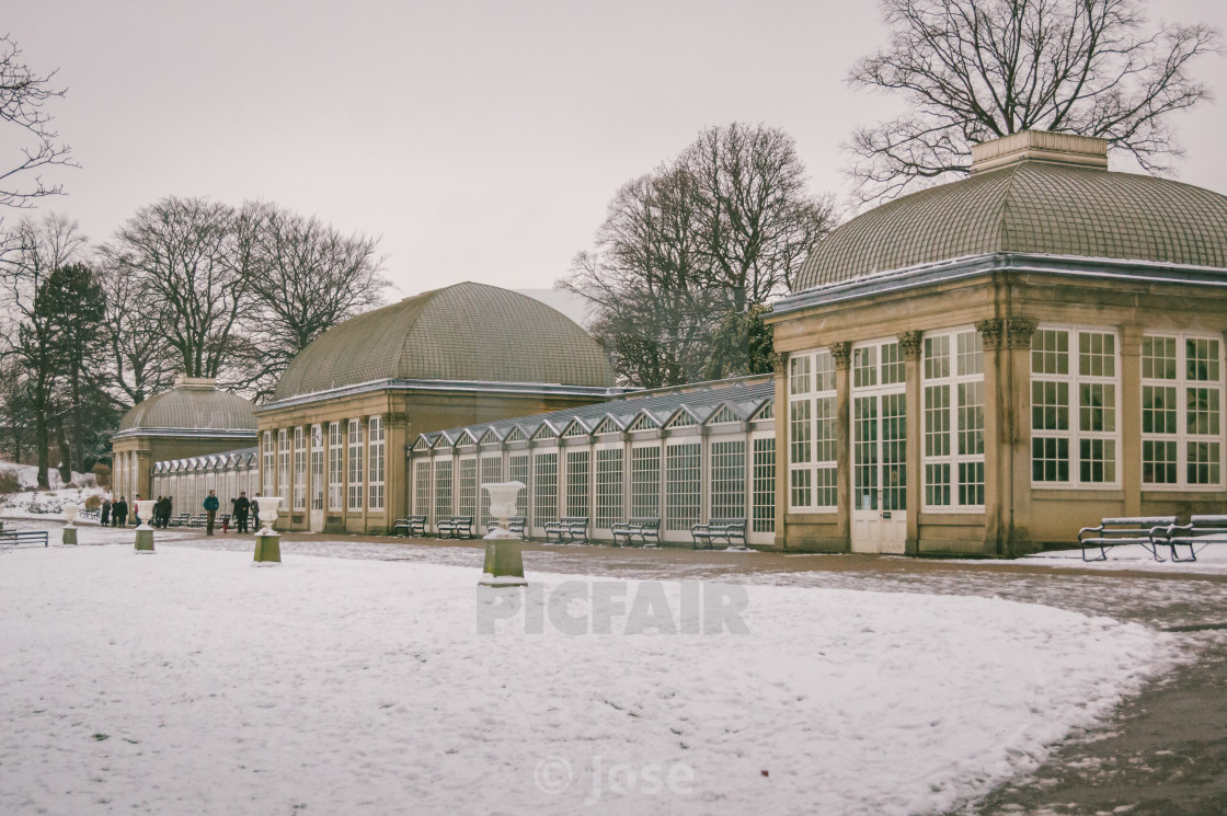 """Snowy Greenhouses"" stock image"