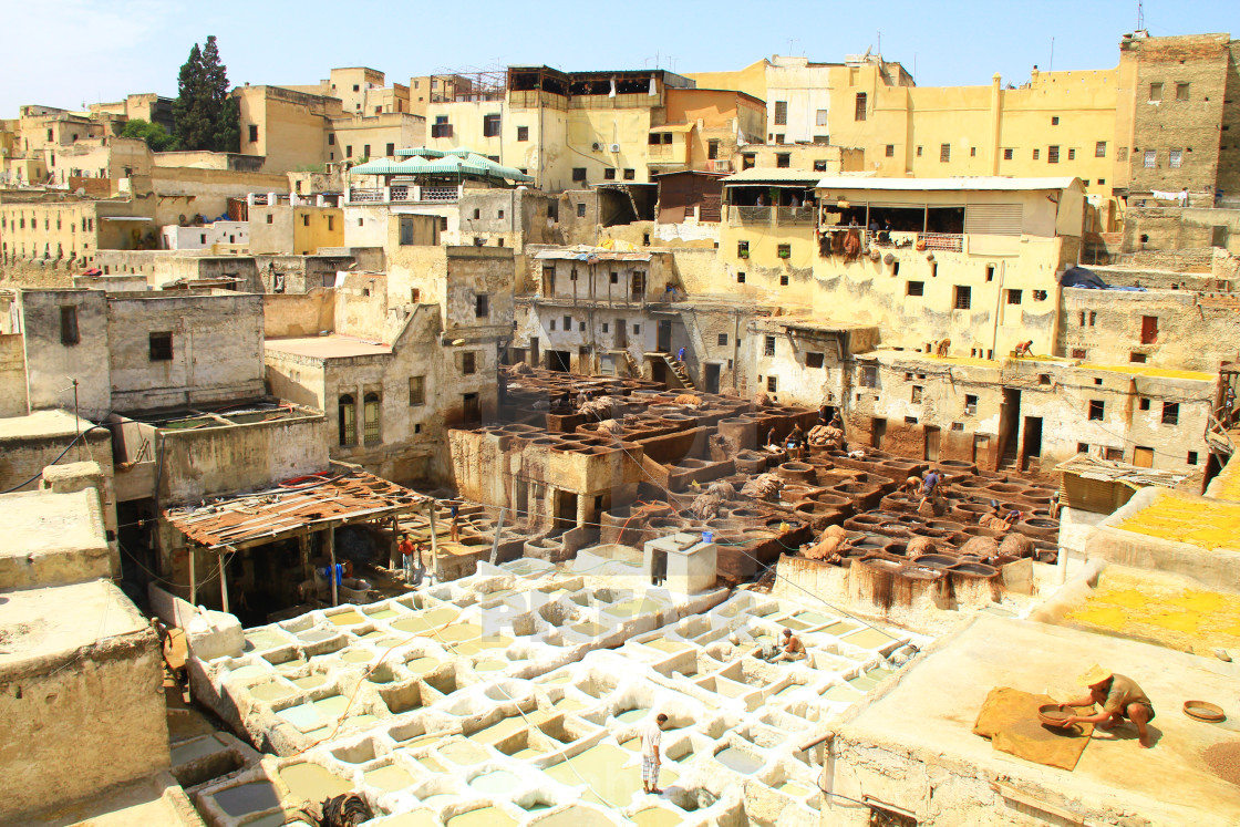 """Chaouwara Tanneries in Fez, Morocco"" stock image"