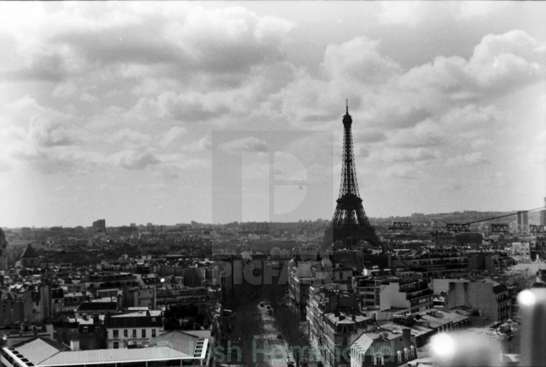 """Eiffel Tower B&W"" stock image"