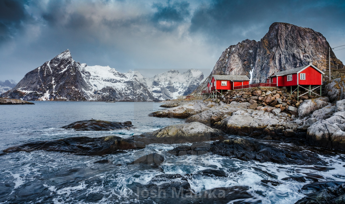 """Hamnøy Blue Hour"" stock image"