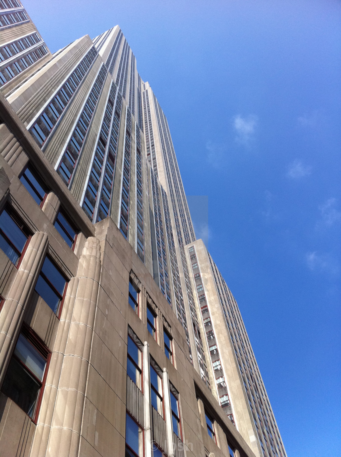 """""""Looking up the Empire State"""" stock image"""