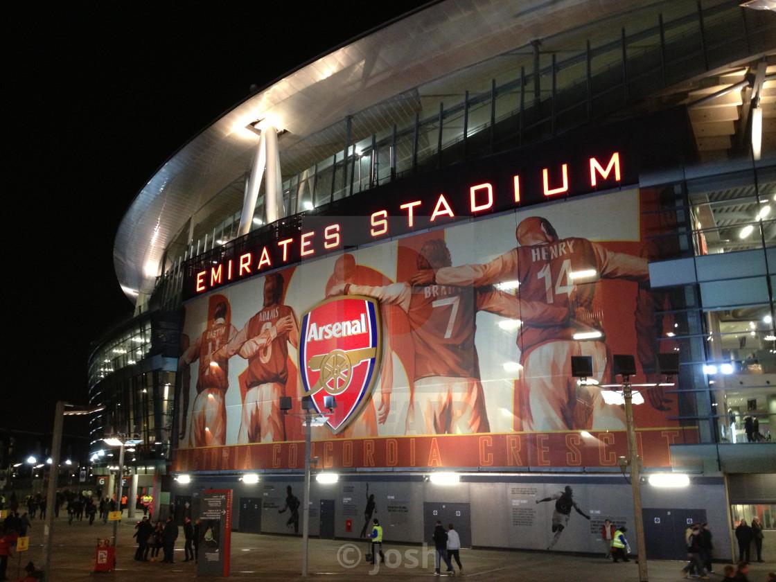 """Emirates Stadium at Night"" stock image"