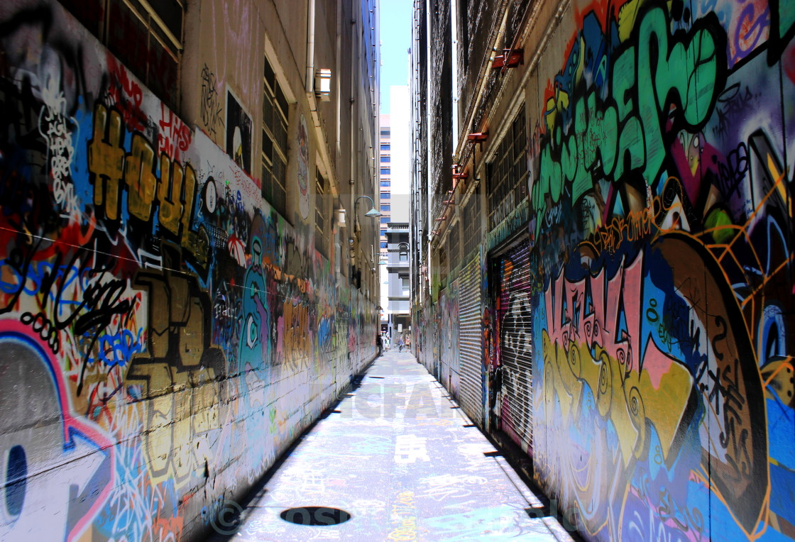"""Melbourne Street Art"" stock image"
