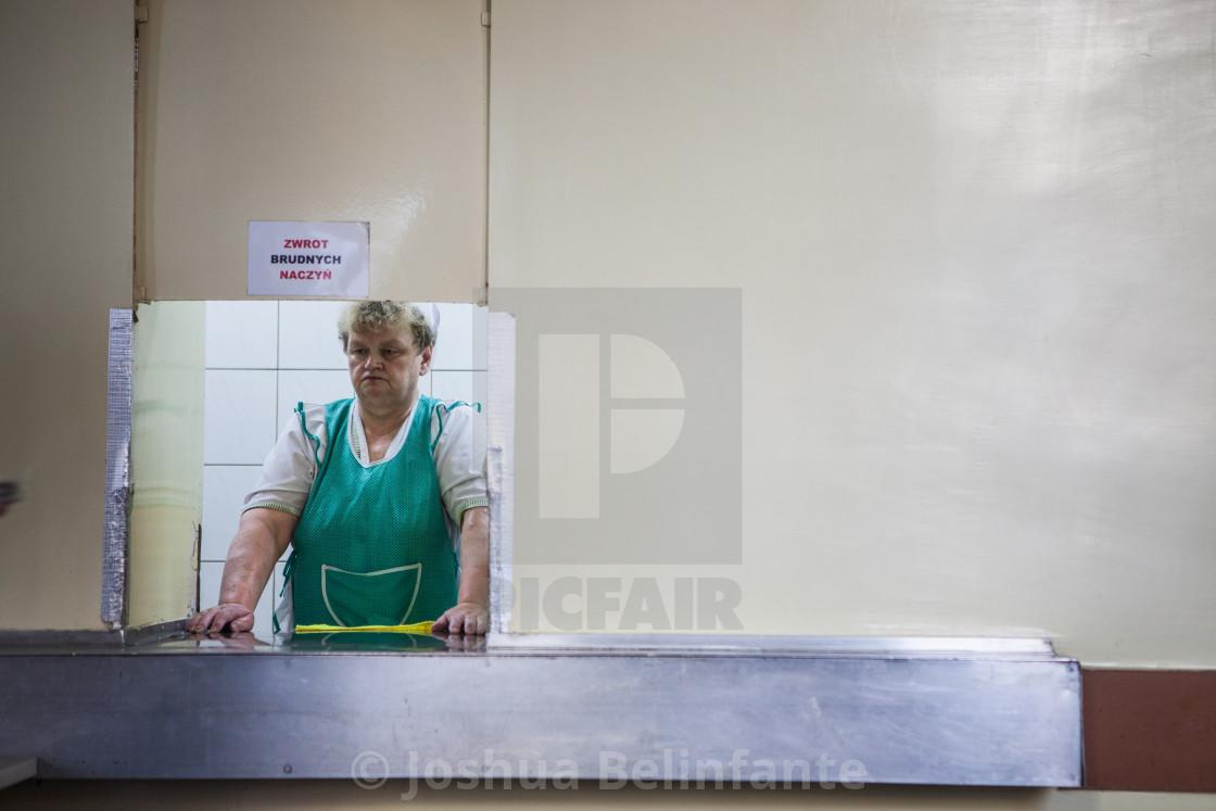 """Milk bar in Nowa Huta"" stock image"