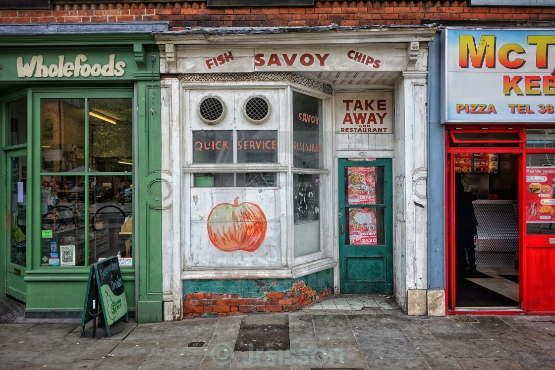 """Fish, Savoy, Chips."" stock image"