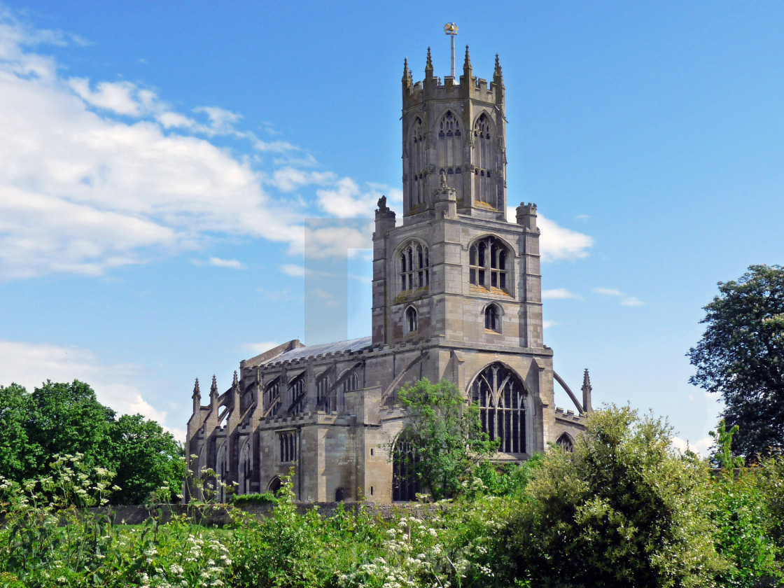 """""""Fotheringhay Church"""" stock image"""