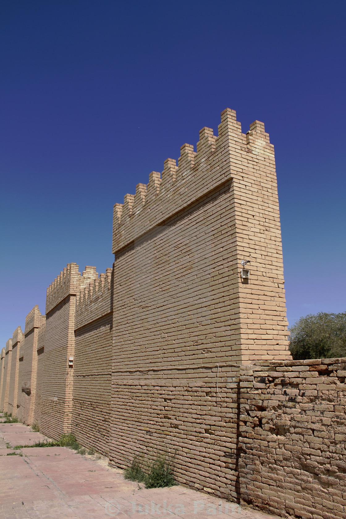 Former saddam hussein palace ruins, babylon iraq stock image.