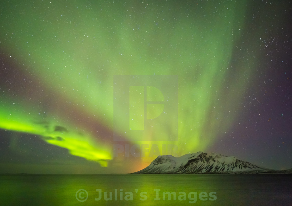 """The Dance of the Aurora"" stock image"