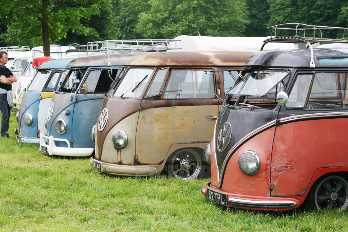 """vw, type 2, campervan, 2"" stock image"