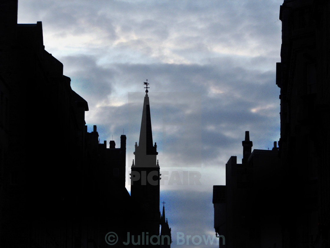 """Architecture on the Royal Mile"" stock image"