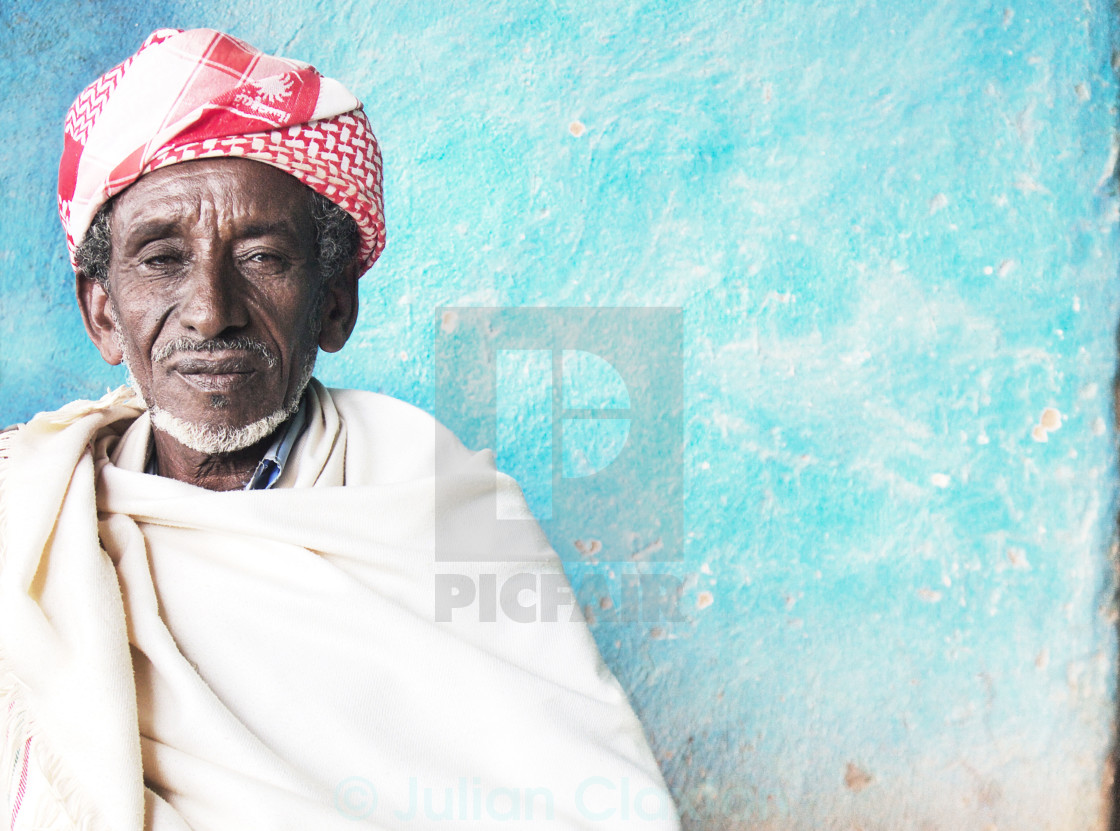 """Portrait of an Ethiopian farmer"" stock image"
