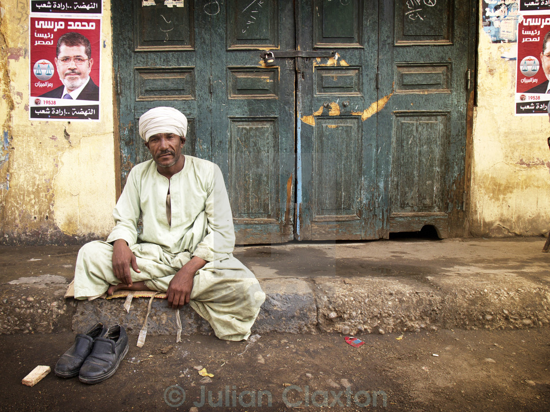 """Egyptian taxi driver during elections"" stock image"