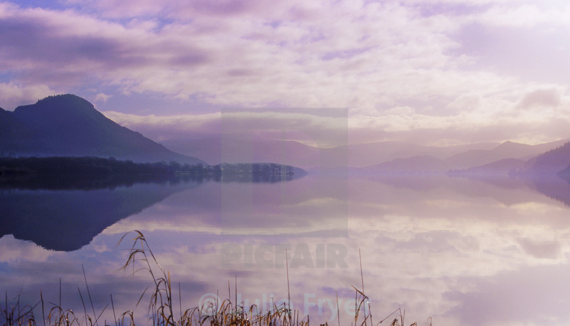 """Misty lake"" stock image"