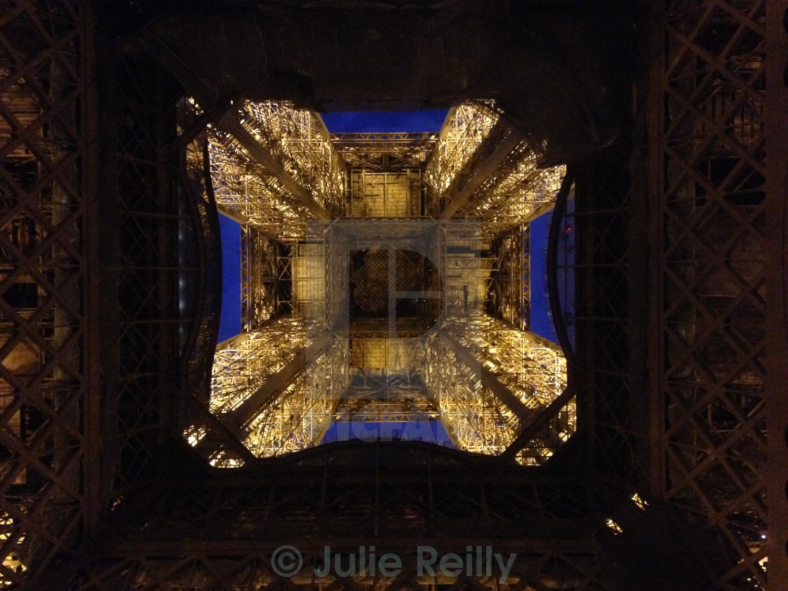 """Eiffel Tower from below"" stock image"