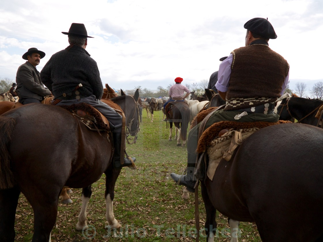 """""""getting ready for the rodeo l"""" stock image"""