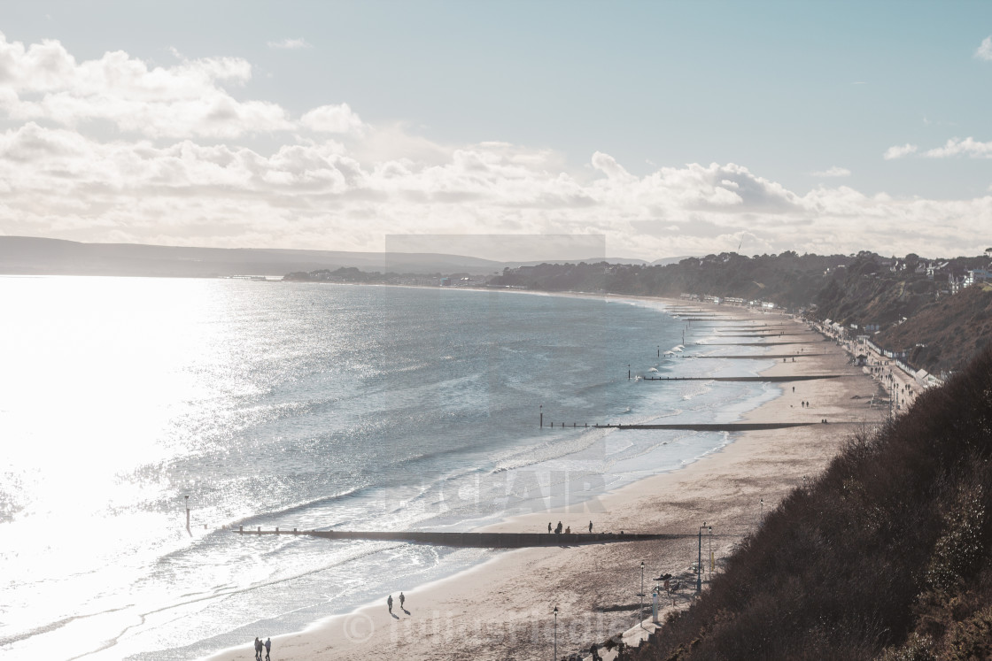"""Bournemouth Beach"" stock image"