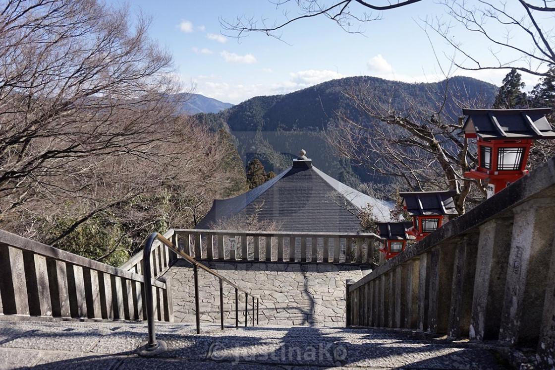 """temple in Nara"" stock image"