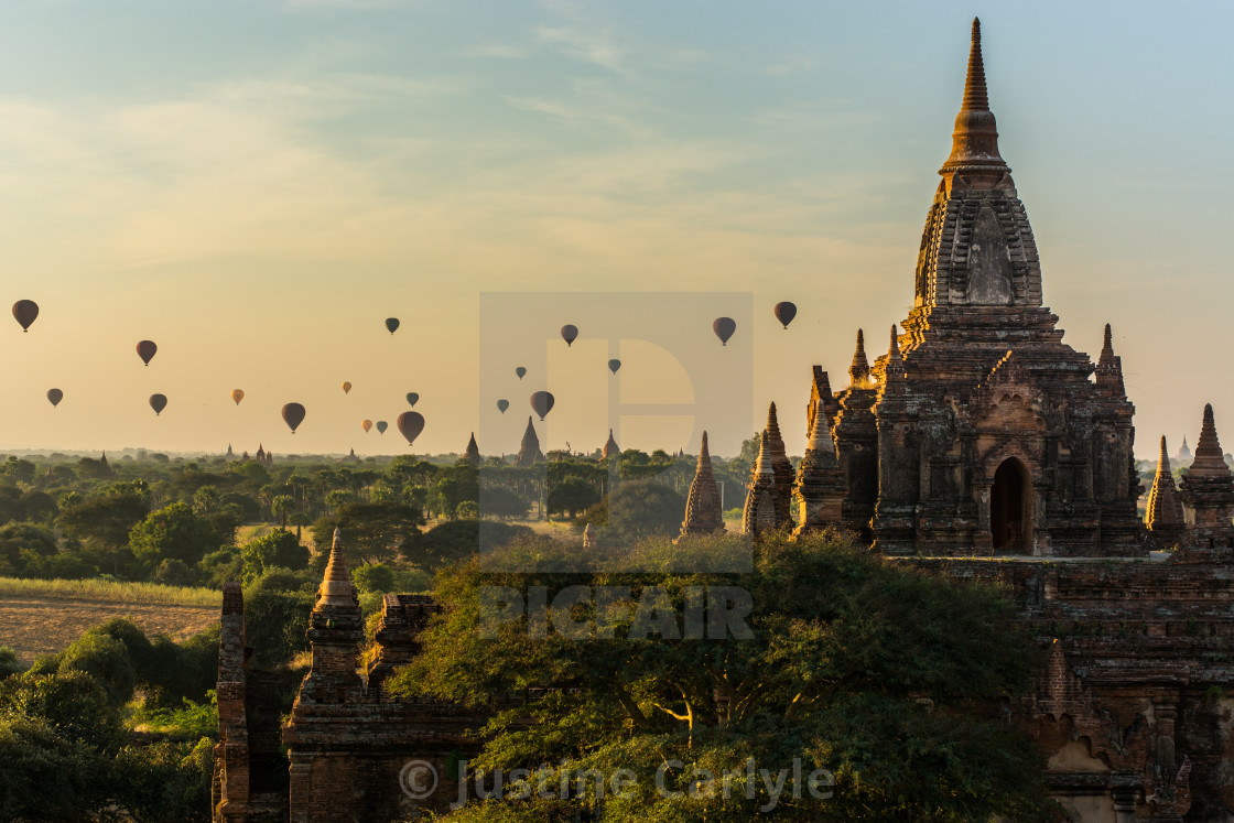 """Balloon Sunrise"" stock image"