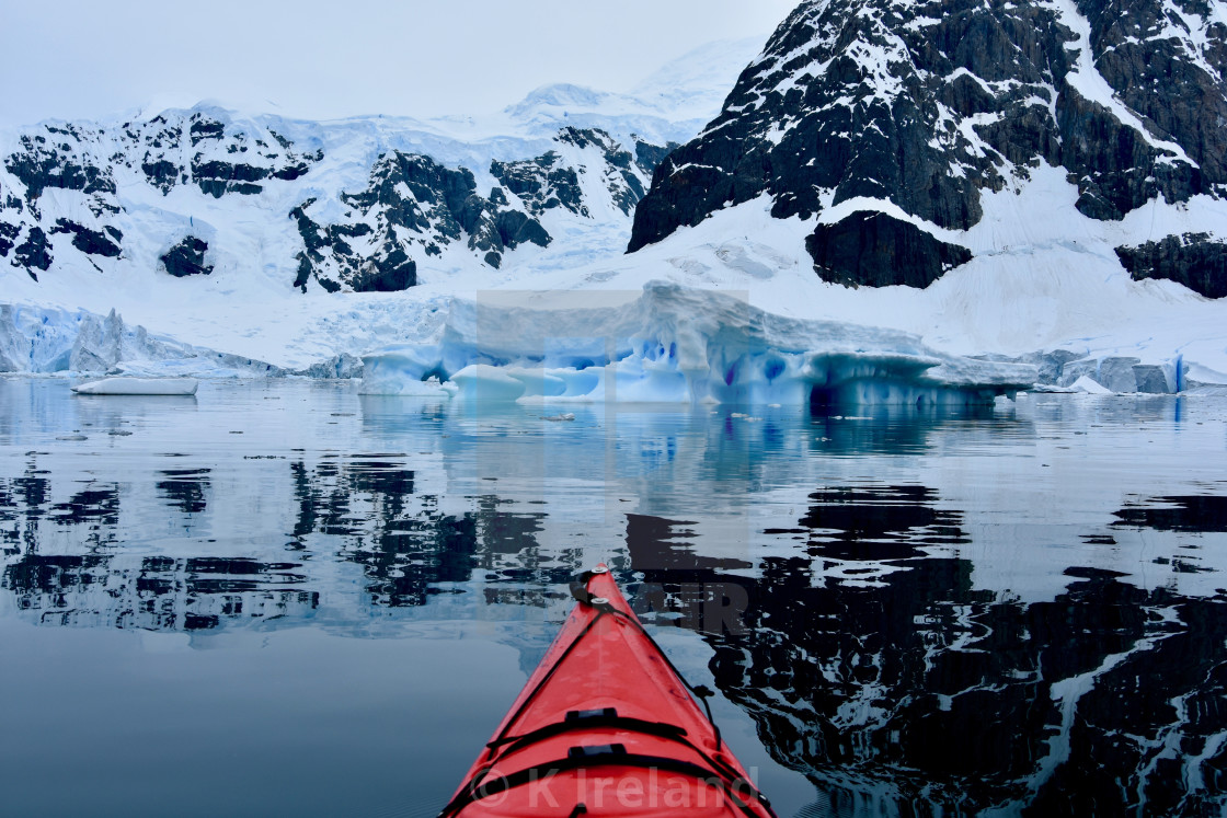 """Kayaking in Antarctica"" stock image"
