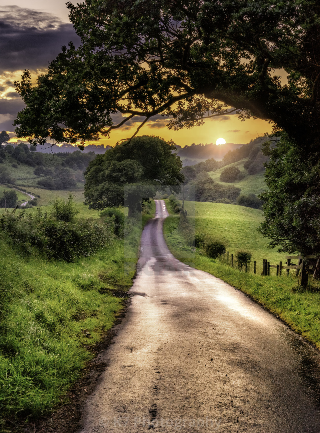 """The Road to Kirby Knowle"" stock image"