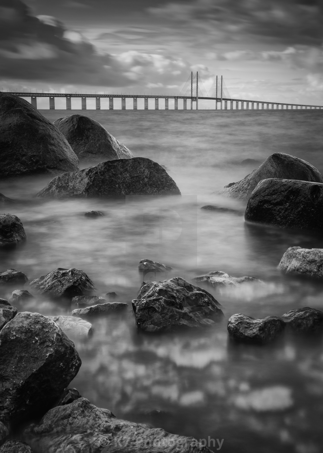 """The Oresund Bridge"" stock image"