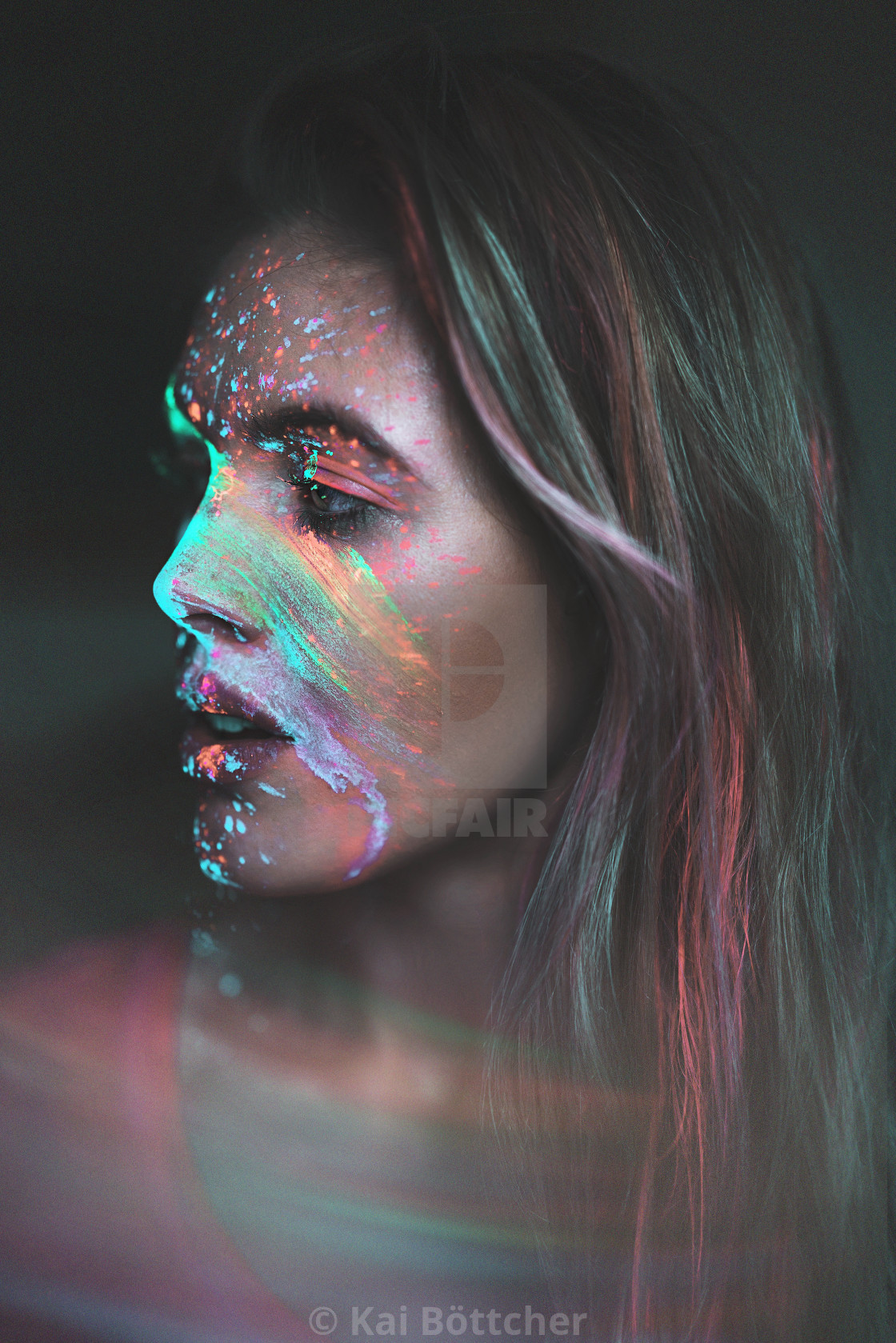 """Neon Portrait"" stock image"