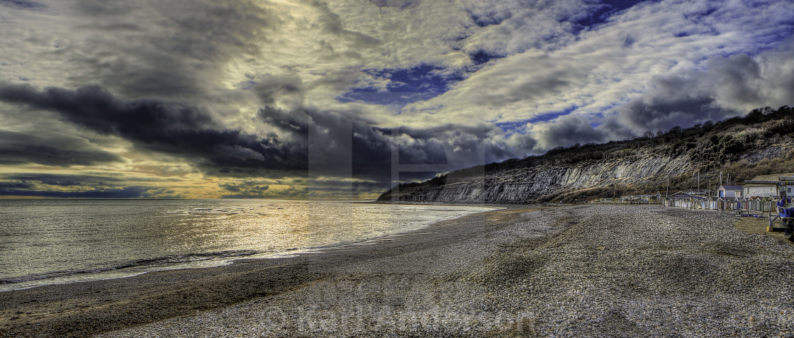 """Lyme Regis Coast"" stock image"