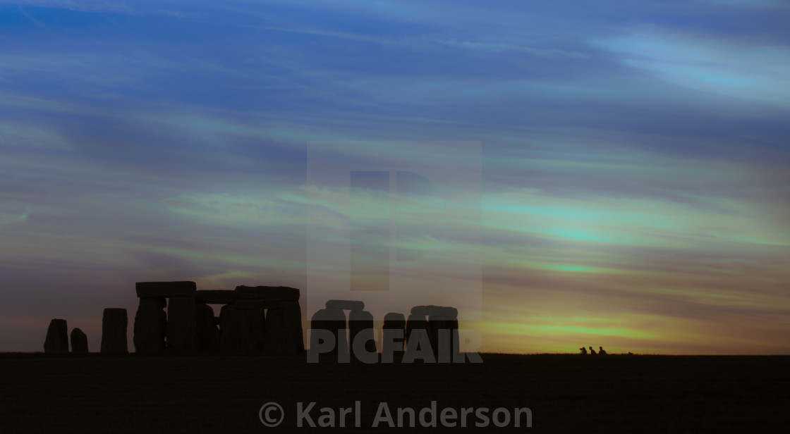"""Stonehenge Sunset"" stock image"