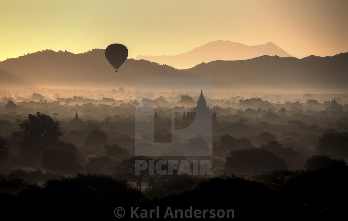"""Dawn over Bagan"" stock image"