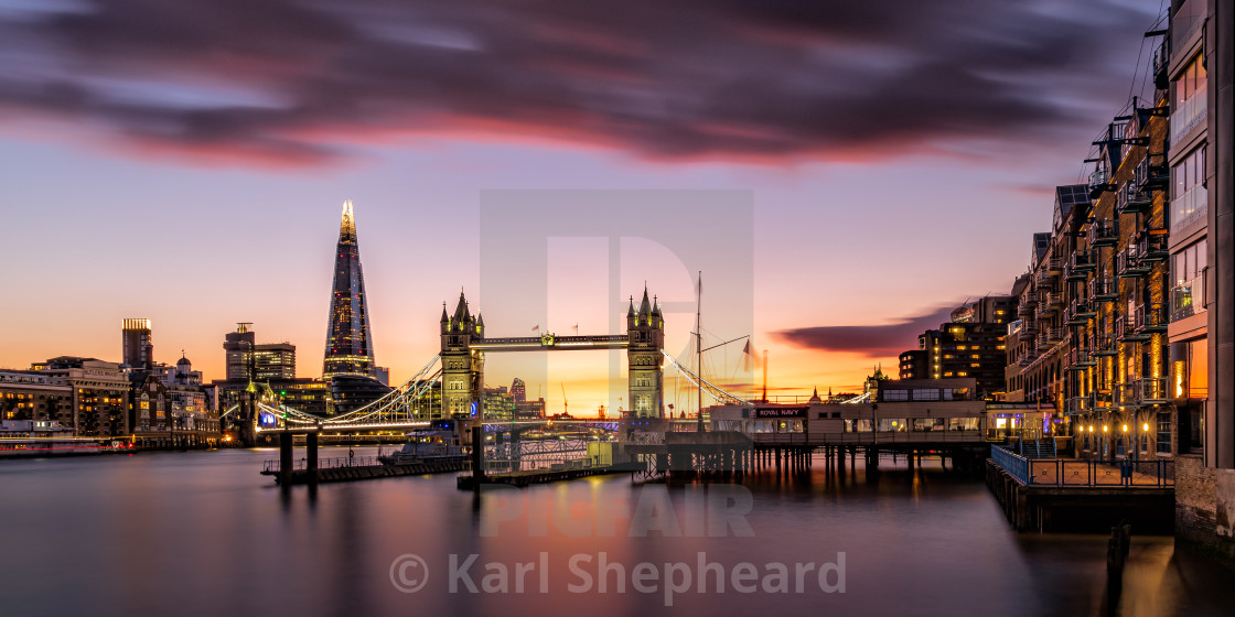 """Sunset Tower Bridge III"" stock image"