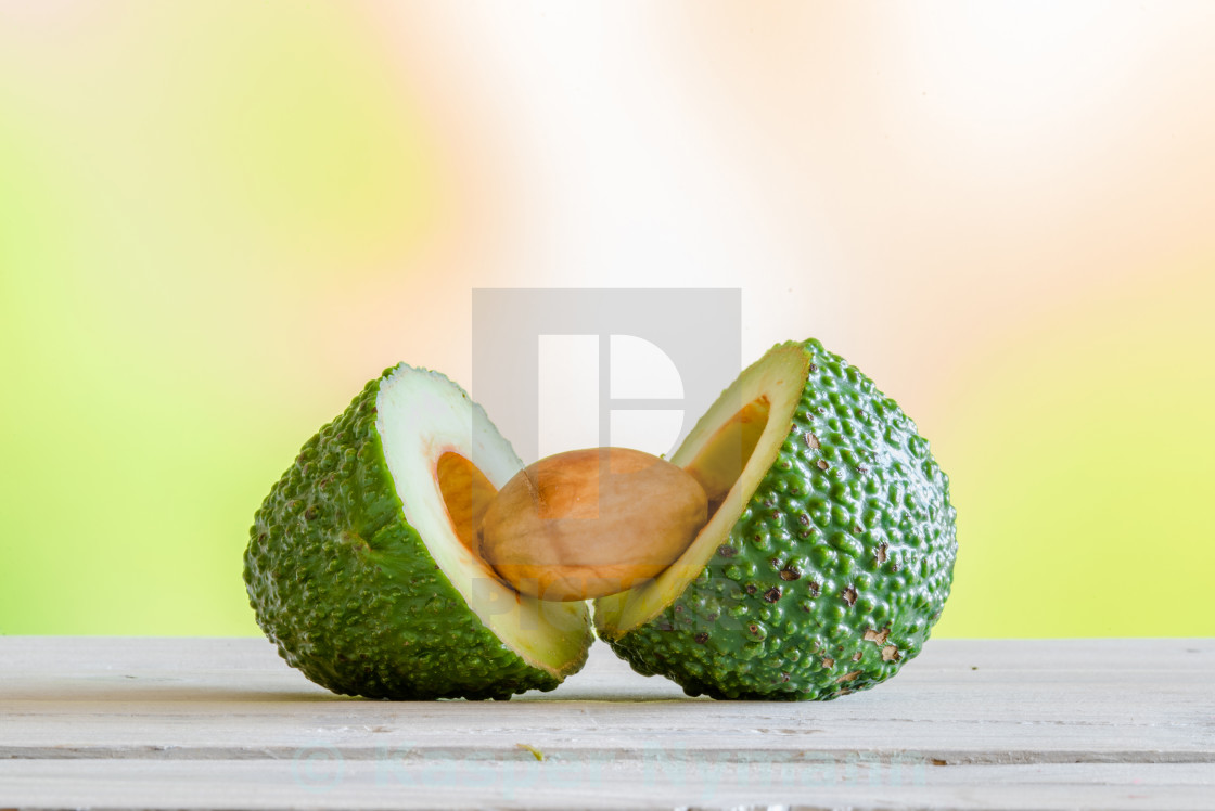 """Avocado cutted in half"" stock image"