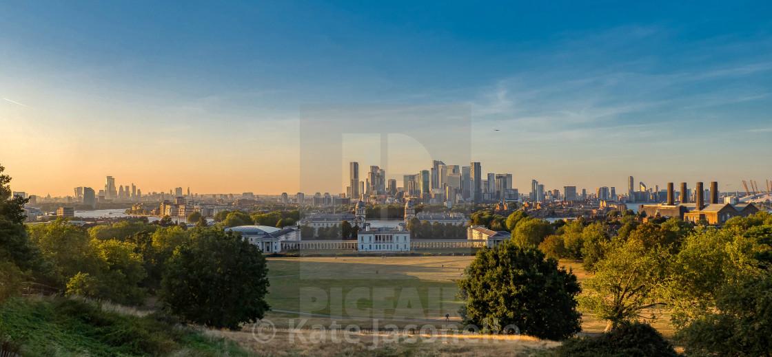 """Greenwich Vista at Sunset, London"" stock image"