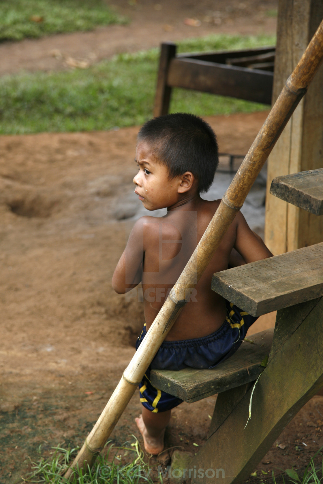"""Boy in Laos"" stock image"