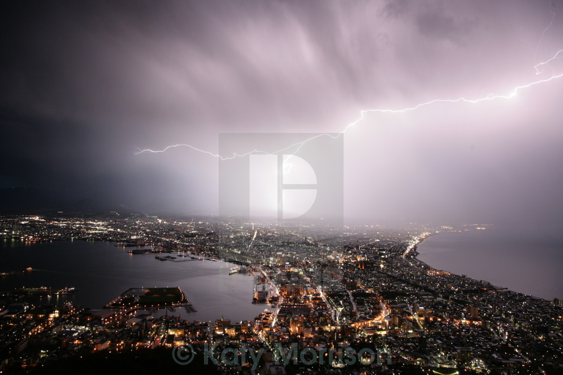 """Lightning in Japan"" stock image"