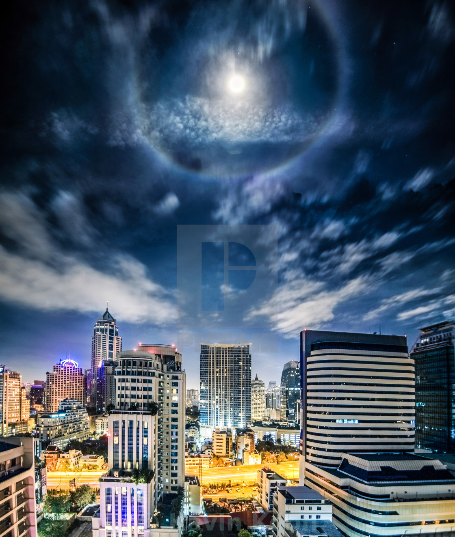 """Bangkok | Moon Halo"" stock image"