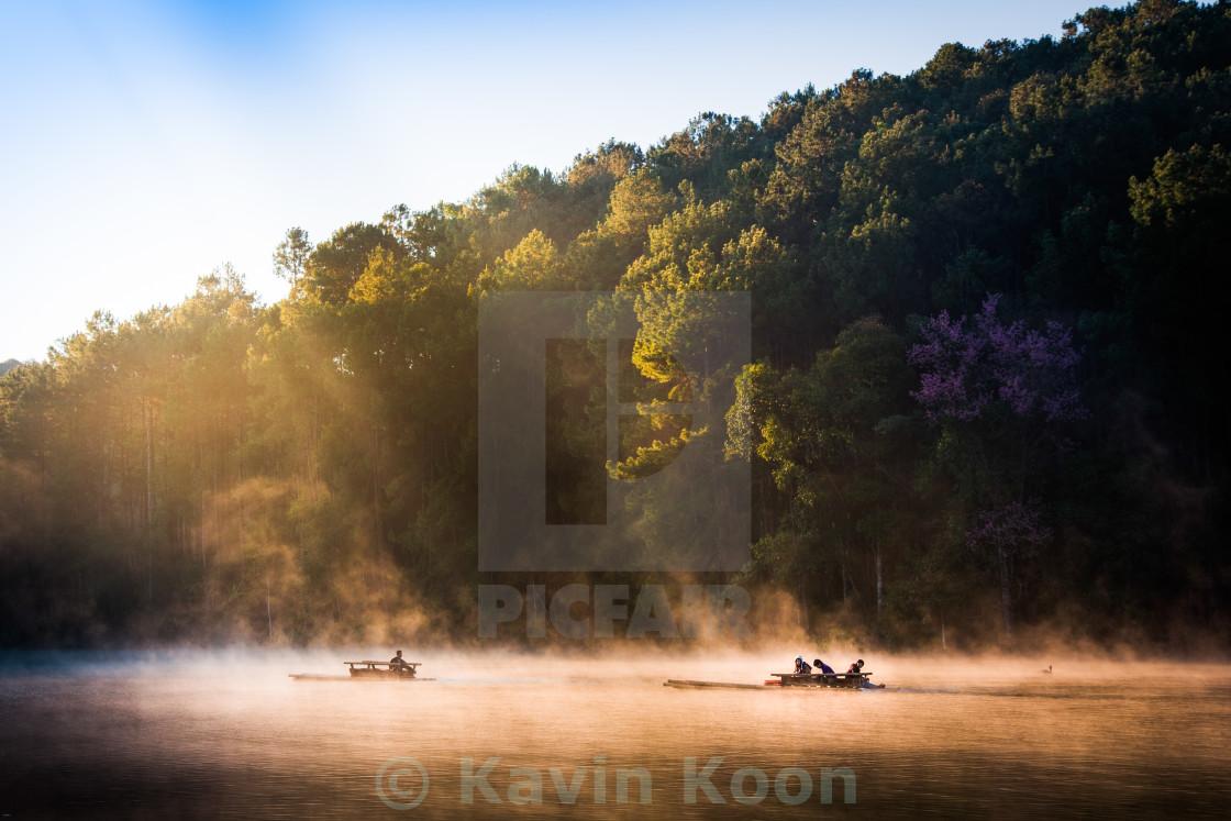 """Golden Lake | Pang Ung"" stock image"