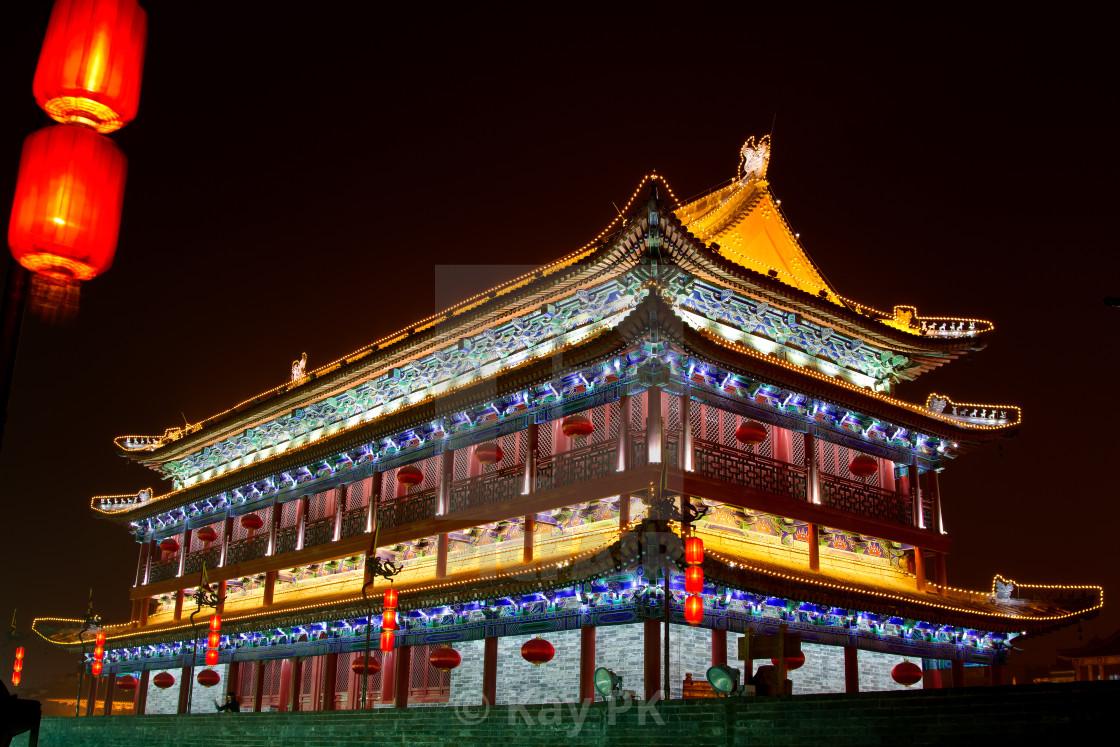 """Xian - Huge Guardtower"" stock image"