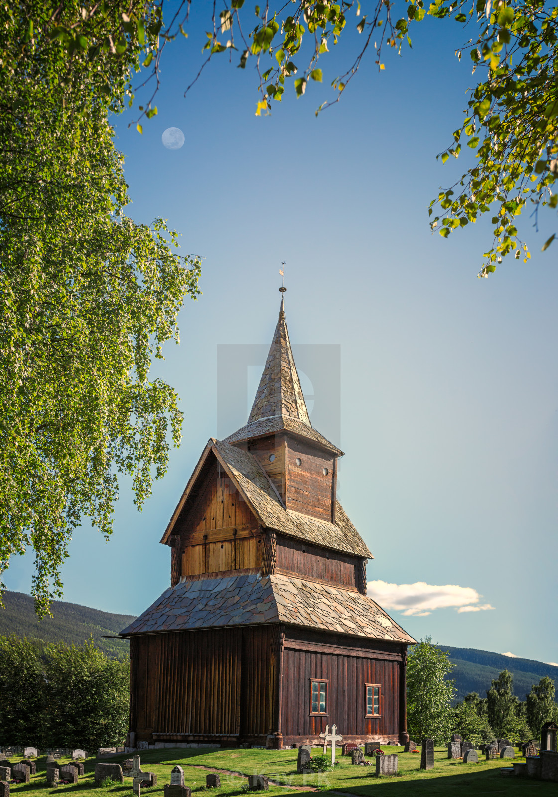 """Stave Church in Torpo"" stock image"