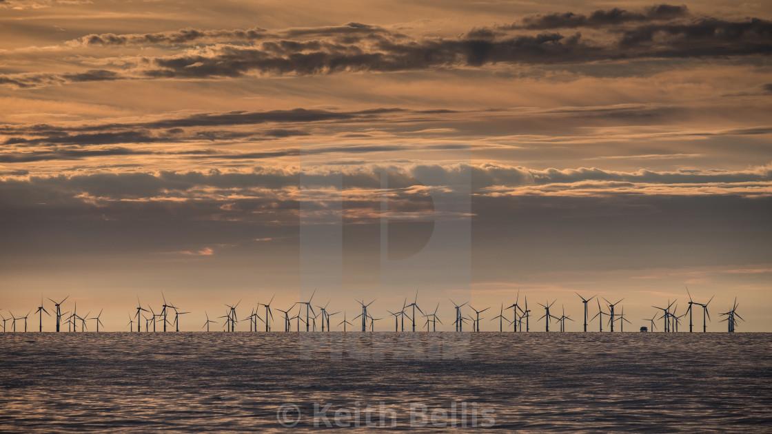 """Offshore Wind farm"" stock image"