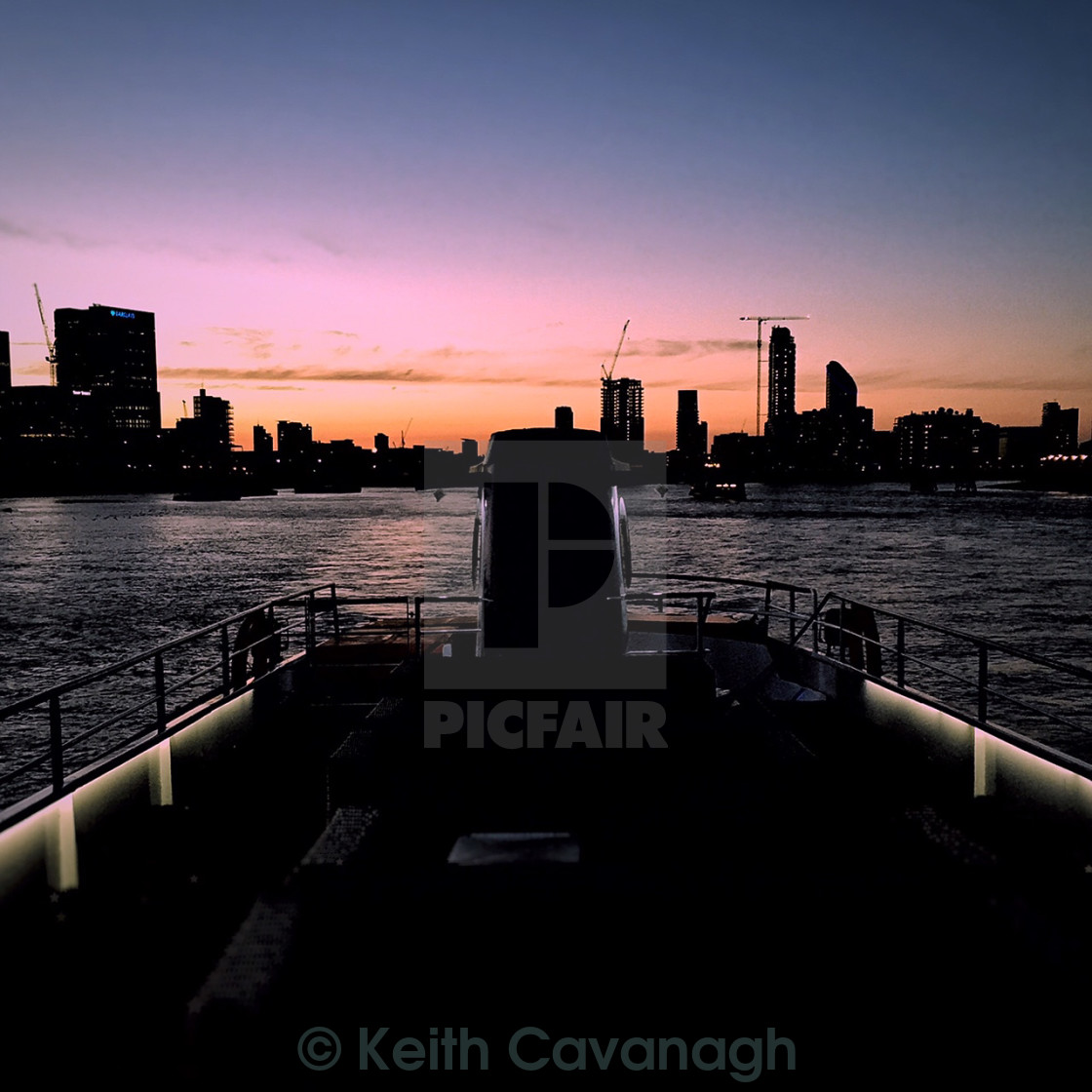 """Sunset over River Thames"" stock image"