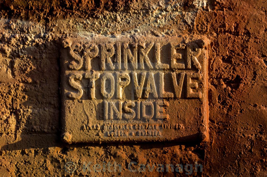 """""""Sprinkler Sign"""" stock image"""