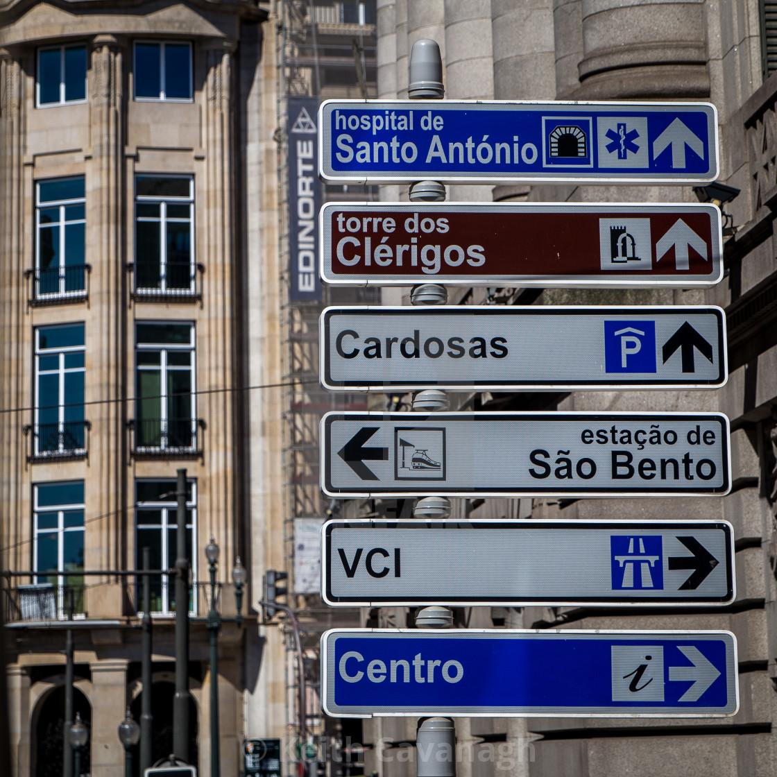 """""""Porto Signage"""" stock image"""