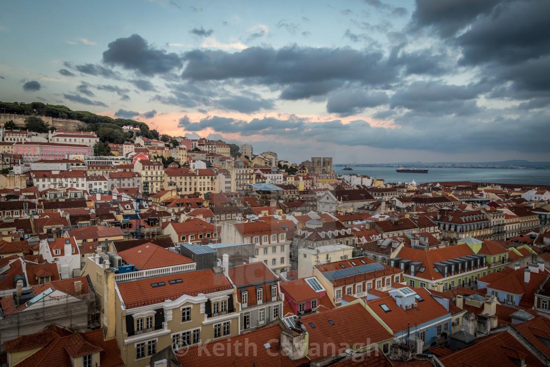 """Lisbon Evening"" stock image"