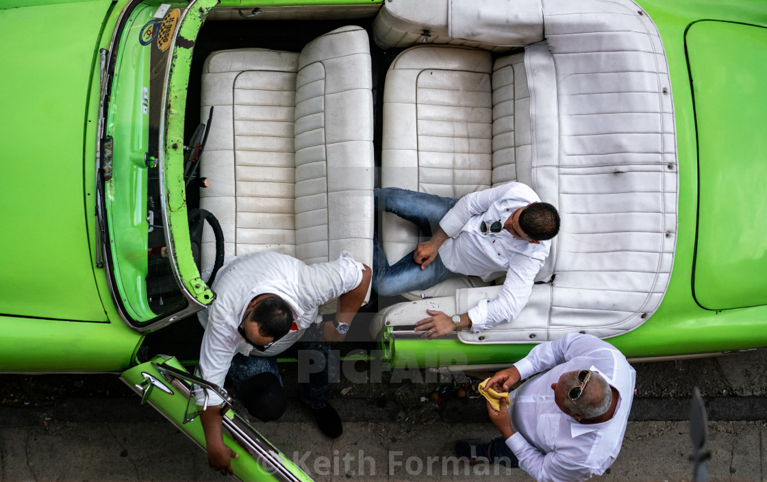 """Cab Drivers on Break"" stock image"