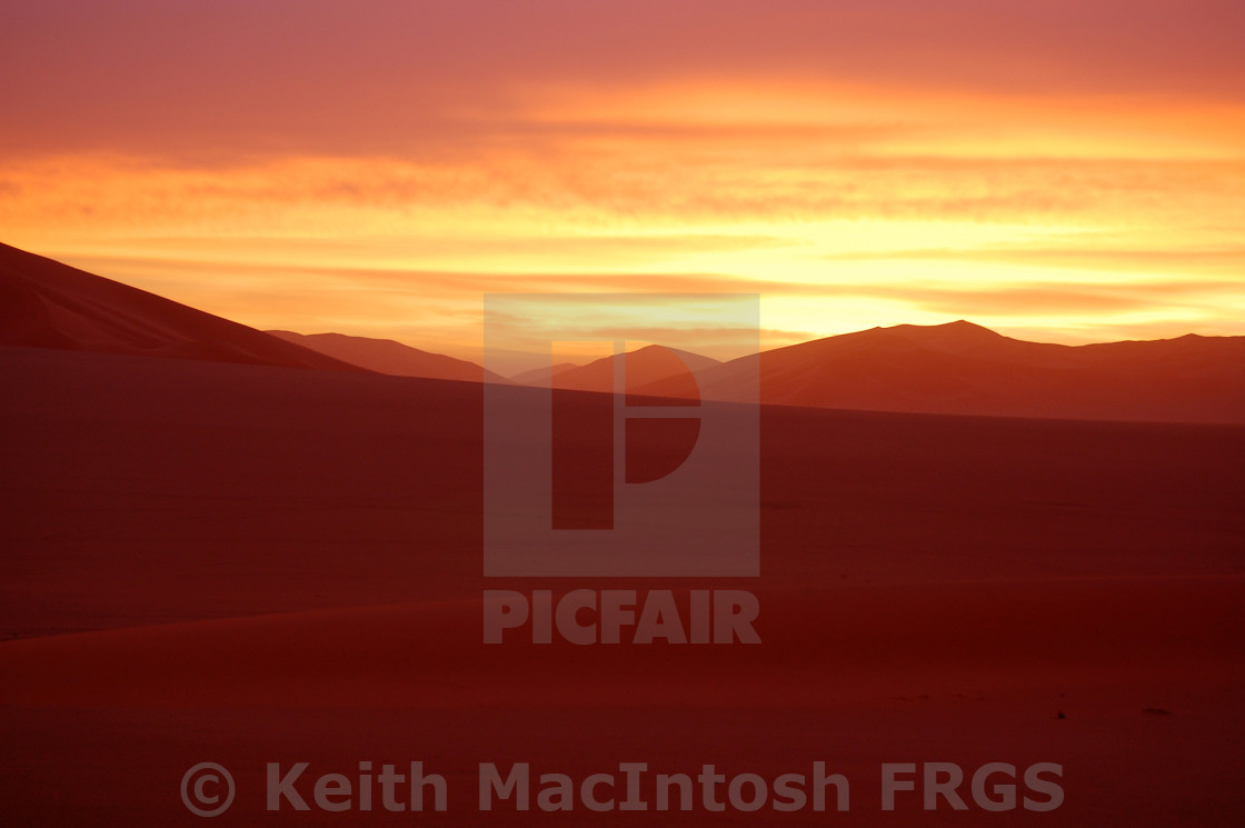 """Sunset in the Sahara"" stock image"