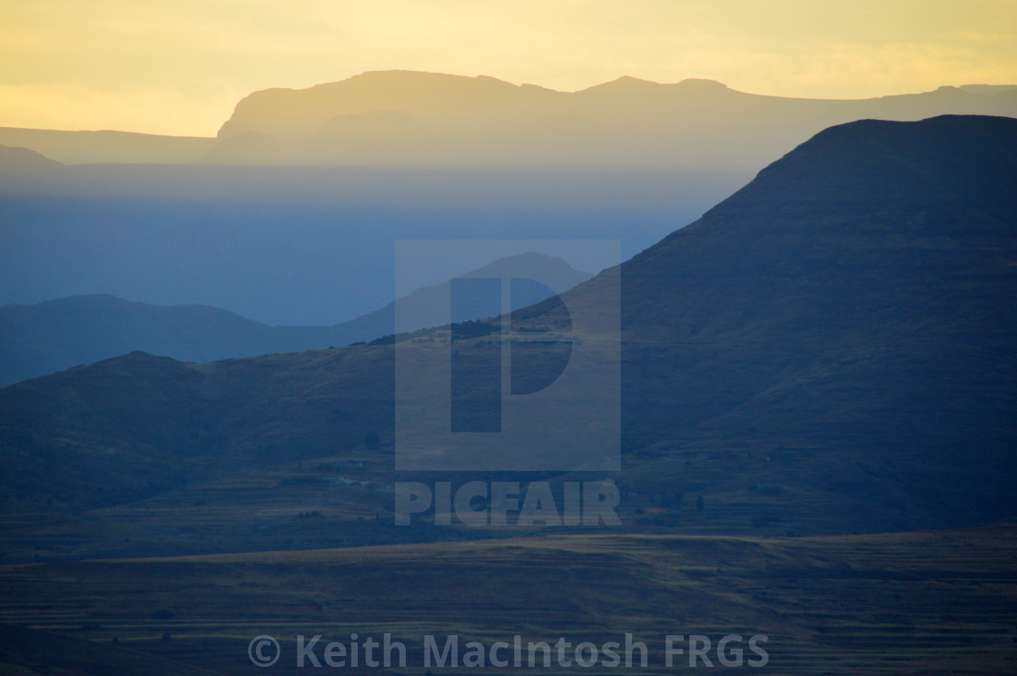"""Early Morning, Lesotho"" stock image"