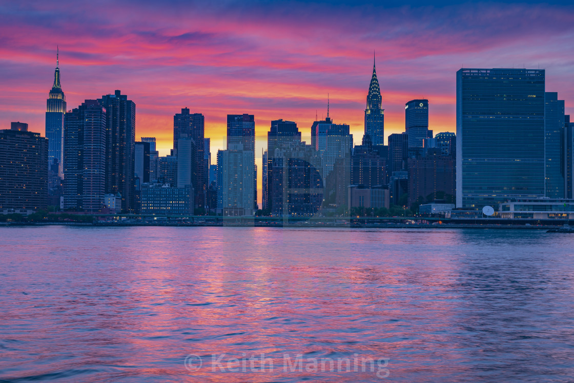 Midtown Manhattan Spring Sunset