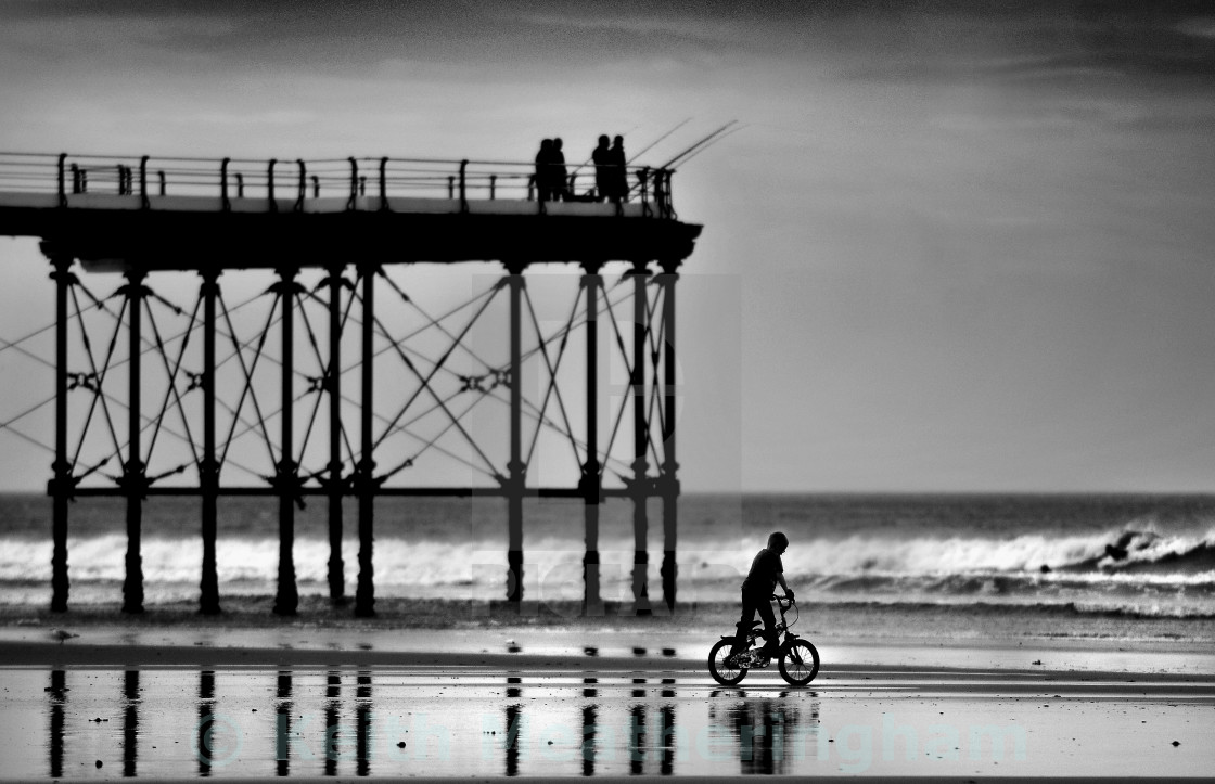 """BY THE PIER"" stock image"